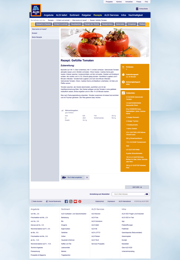 aldi süd rezept gefüllte tomaten